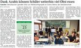 Dank Azubis können Schüler weiterhin viel Obst essen (SchwarzwälderBote v. 19.01.19) | Aktuelles | SBBZ Seeäckerschule Calw-Stammheim
